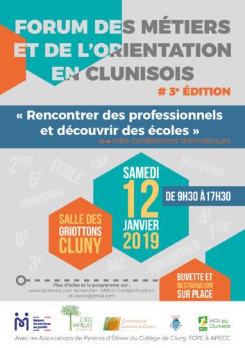 Forum des métiers et de l'orientation en Clunysois